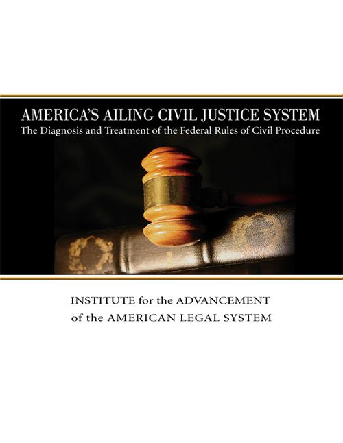 America's Ailing Civil Justice System