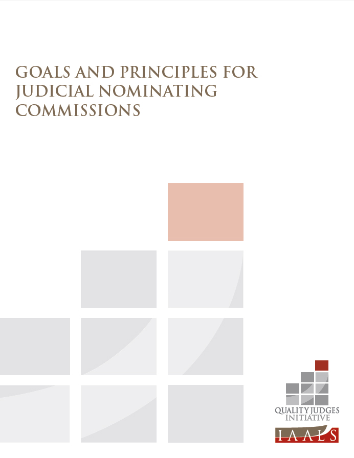 Goals and Principles for Judicial Nominating Commissions
