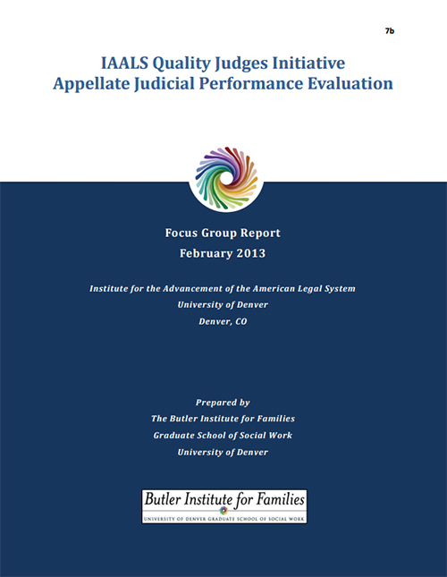 IAALS Appellate Judicial Performance Evaluation Focus Group Report