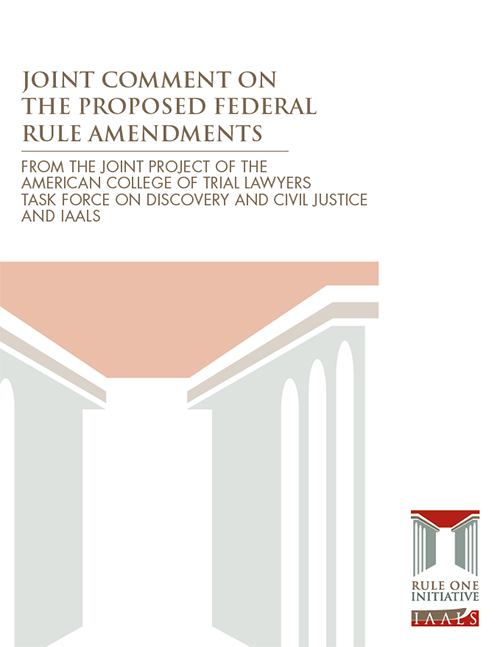 Joint Comment on the Proposed Federal Rule Amendments