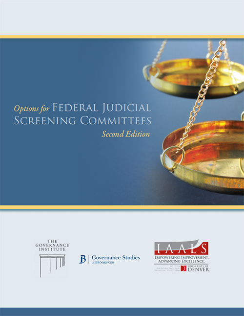 Options for Federal Judicial Screening Committees, Second Edition